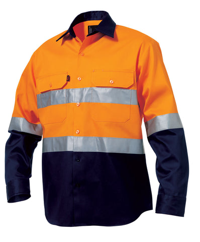 King Gee Reflective Spliced Drill Shirt L/S (K54315)