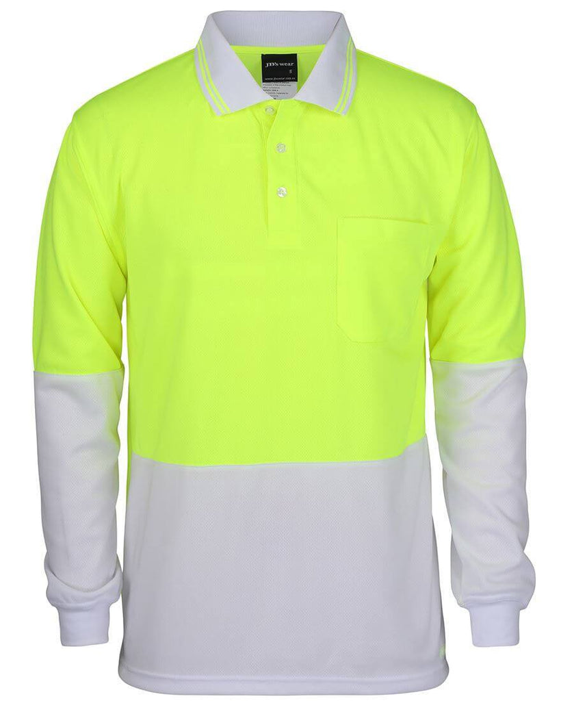 JB's Hi Vis Long Sleeve Trad Polo - Adults (6HVPL)