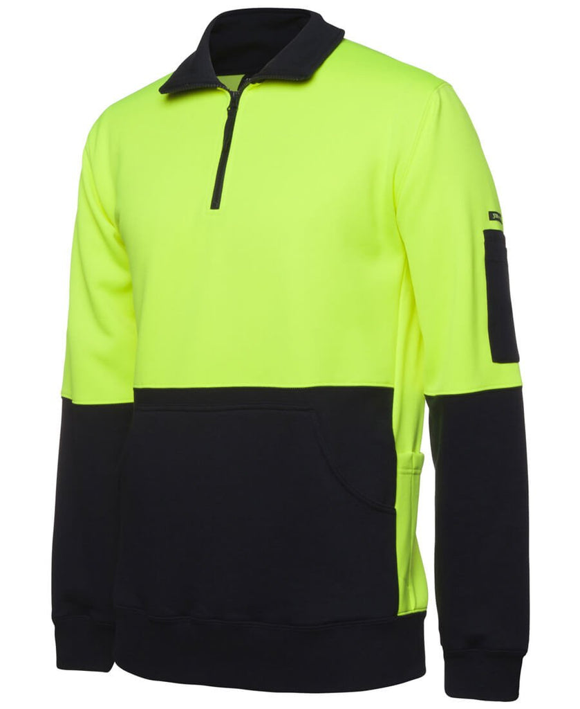 Jb's Hi Vis 330G 1/2 Zip Fleece (6HVPZ)