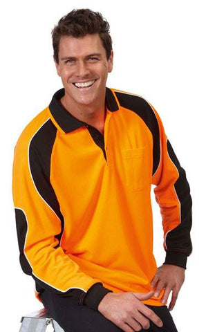 JB's Hi Vis Long Sleeve Arm Panel Polo - Adults (6AP4L)