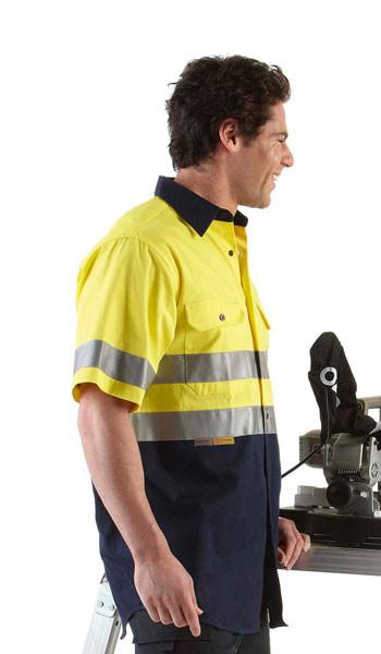 JB's Hi Vis (D+N) Short Sleeve 190g Shirt - Adults (6HSS)