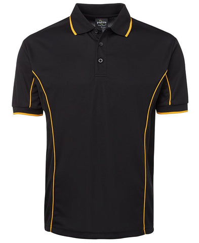 Jb's Adults Podium Short Sleeve Piping Polo 2nd (10 Colour) (7PIP)