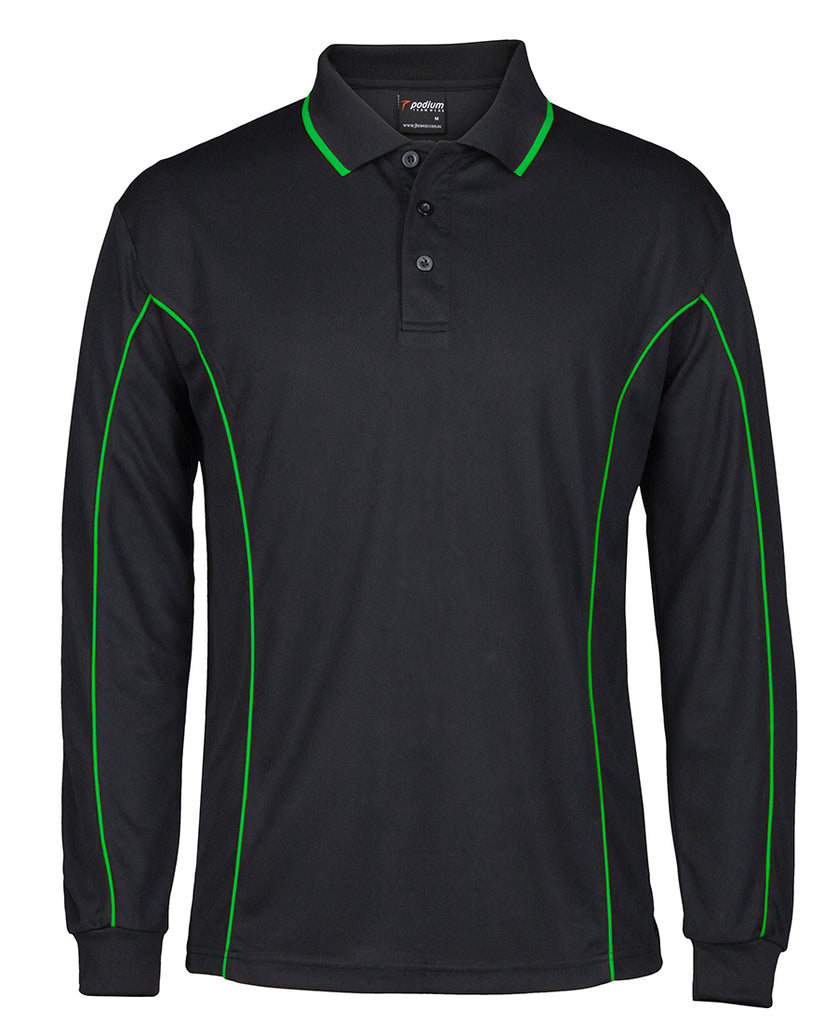 Jb's Podium Long Sleeve Piping Polo (7PIPL)