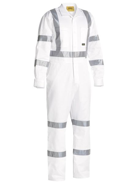 Bisley  3m Taped White Drill Coverall-(BC6806T)