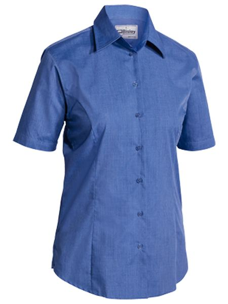 Bisley Ladies Cross Dyed Shirt - Short Sleeve-(BL1646)