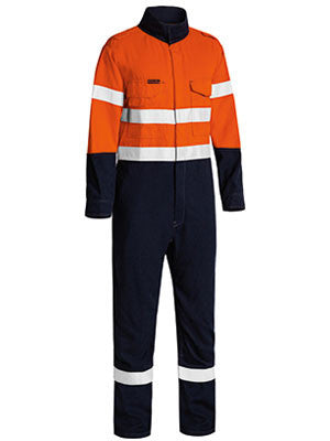 Bisley Tencate Tecasafe® Plus Taped 2 Tone Hi Vis Fr Lightweight Engineered Coverall(BC8186T)
