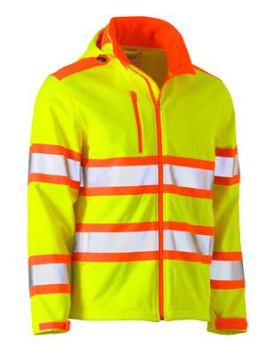 Bisley Taped Double Hi Vis Softshell Jacket  (BJ6222T)