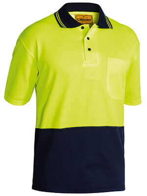 Bisley 2 Tone Hi Vis Polo Shirt - Short Sleeve-(BK1234)
