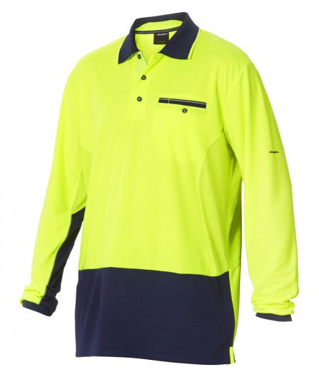 King Gee Workcool Spliced Polo Long Sleeve  (K54840)