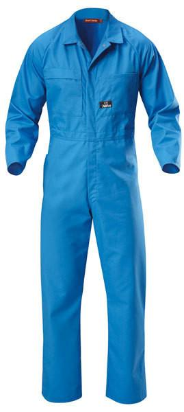 Hard Yakka-Hard Yakka Poly Cotton Coverall-Blue Medit / 29 x 35-Uniform Wholesalers - 1