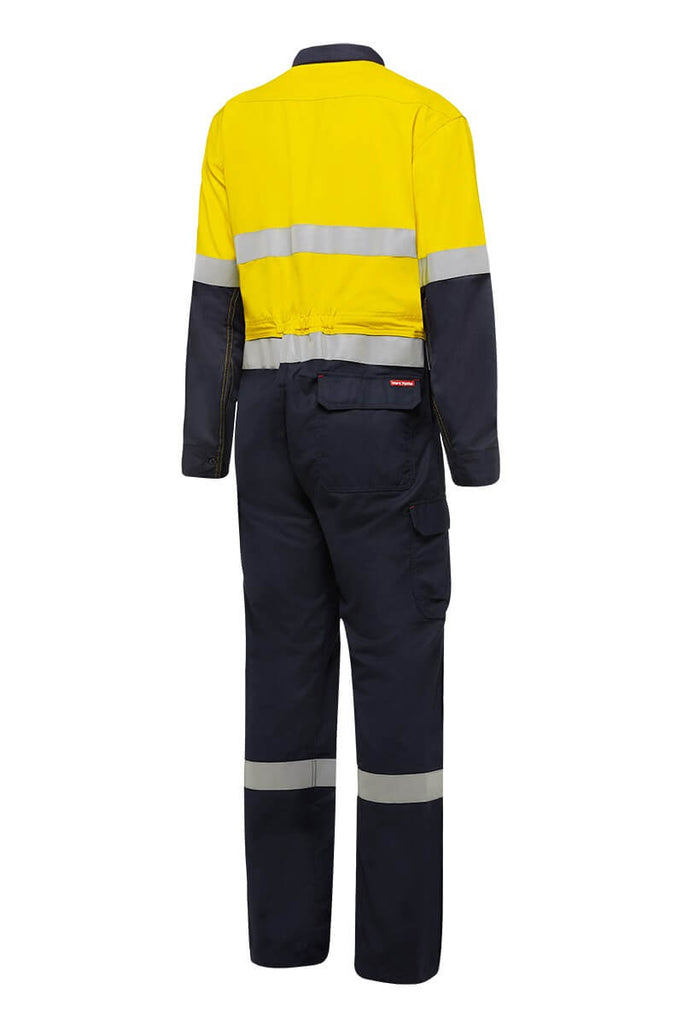 Hard Yakka Shieldtec Fr Hi-Visibility Two Tone Coverall With Fr Tape (Y00055)