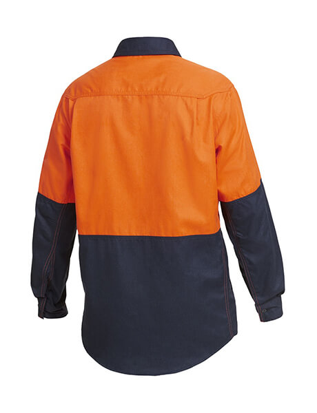 Hard Yakka Shieldtec Fr Hi-Visibility Two Tone Open Front Long Sleeve Shirt (Y04450)