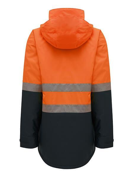Hard Yakka Hi-Visibility 2Tone Quilted Jacket With Tape (Y06685)
