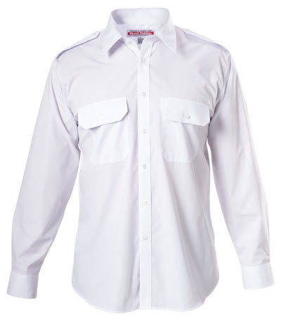 Hard Yakka Permanent Press Poly Cotton Shirt With Epaulettes Long Sleeve (Y07690)