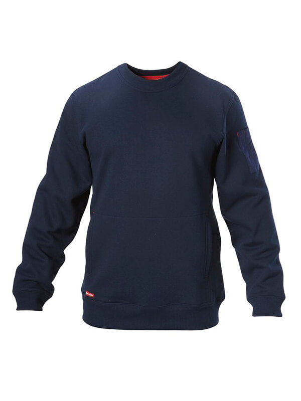 Hard Yakka Men's Brushed Fleece Crew Neck Jumper (Y19324)