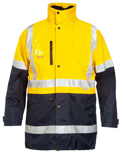 Hard Yakka Foundations Hi-Visibility 4 In 1 Two Tone Jacket With Tape (Y06057)