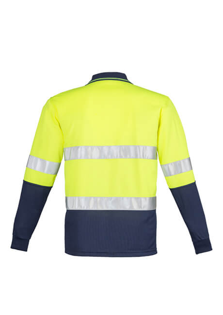 Syzmik Mens Hi Vis Spliced Polo - Long Sleeve Hoop Taped (ZH235)