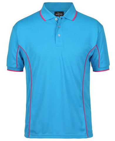 Jb's Adults Podium Short Sleeve Piping Polo 3rd (5 Colour) (7PIP)