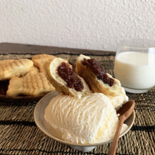 Load image into Gallery viewer, Gourmet Gongbang fish shaped bun with red bean and ice cream with milk