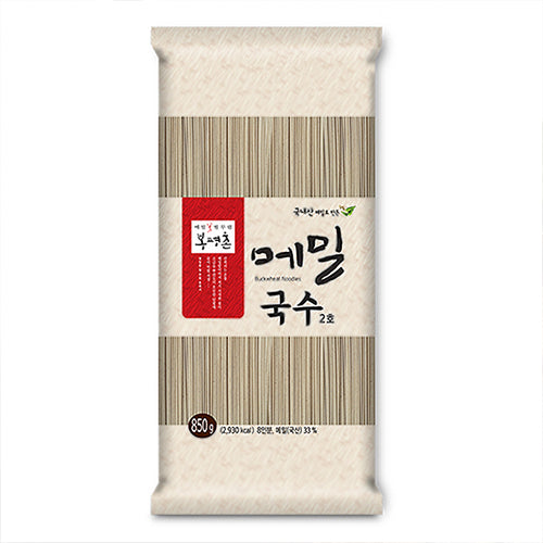 Bongpyeong buckwheat noodles packaging from Seoul Recipe Hong Kong food catering and delivery.