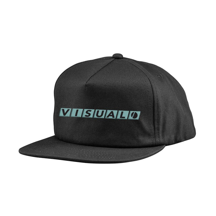Network 5-Panel Soft Structure Hat - Black Visual Skateboards