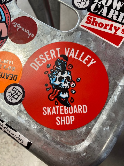 Desert Valley Large Red Skull Sticker