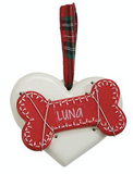 Bone with Heart Ornament