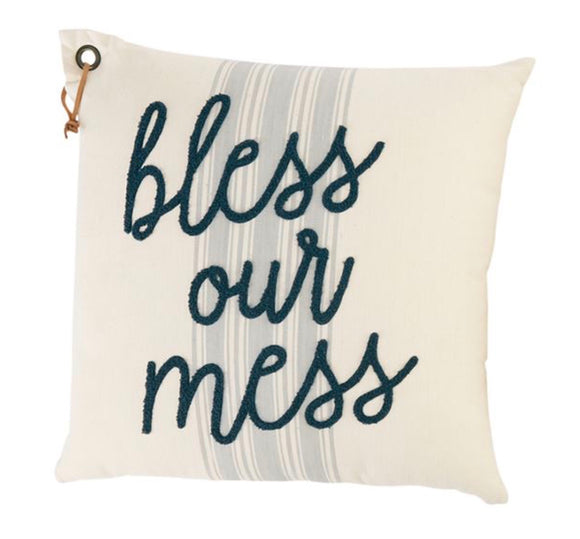 Bless Our Mess Mud Pie Pillow