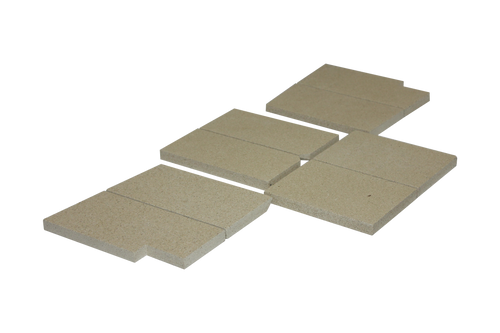 CB-8000 Complete Vermiculite Fire Brick Kit (Grizzly)
