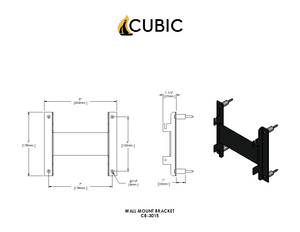CB-2013-SS Stainless Steel Wall Mount With Sliding Tray (Cub)