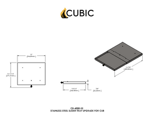 CB-4500-SS Stainless Steel Sliding Tray Upgrade (Cub)