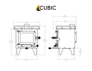 CB-1008 CUB Cubic Mini Wood Stove