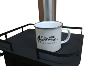 CB-7500-WT Cubic Mini Wood Stoves Stainless Steel Camping Mug