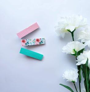 Pincette Turquoise & rose