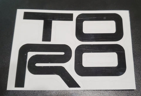 "TORO - 3"" Transfer Decal"