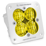 Flush Mount LED Light Pod White Amber Lens Wide Cornering Pattern Squadron Pro Baja Designs