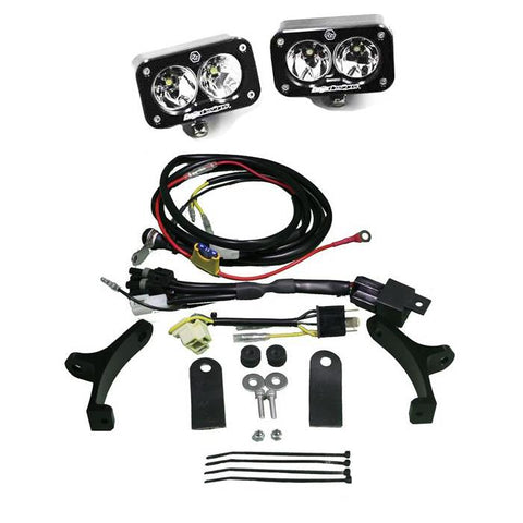 Motorcycle Headlight A/C LED Race Light Black Squadron Pro Baja Designs