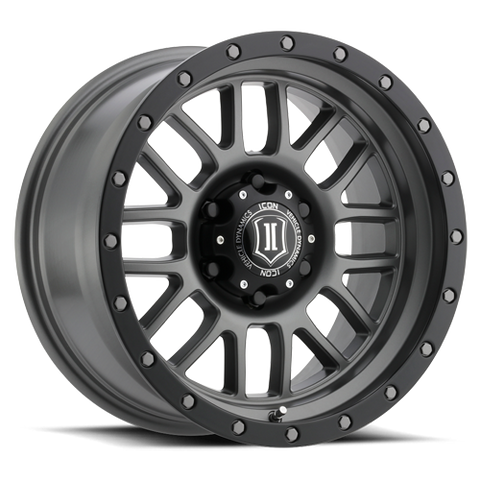 "ICON Alloys - 17"" Alpha Wheels - Titanium (5 X 5"")"