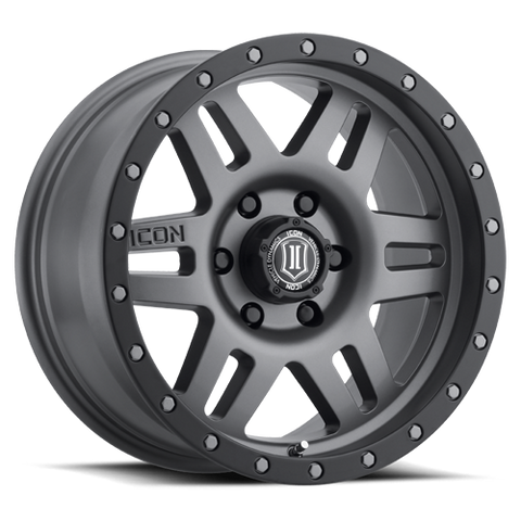 "ICON Alloys - 17"" Six Speed Wheels - Titanium (6 x 5.5"")"