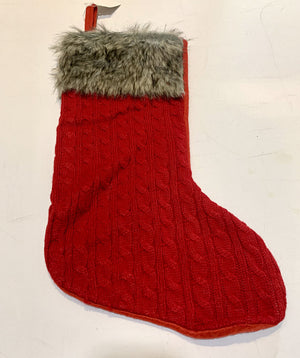 Brand New!! Red Cable Knit Stocking