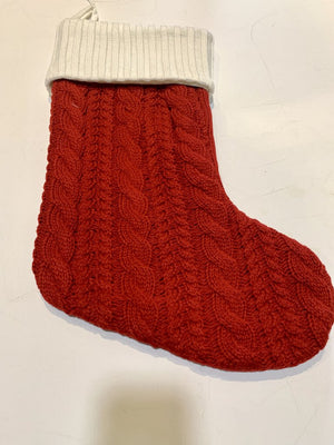 Brand New!! Red Cable Knit Santa Stocking