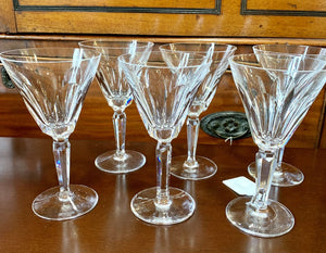 "SET 6/ Waterford Vintage ""Sheila"" Crystal Wine Glass"