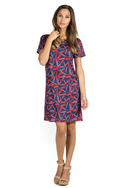 MILA DRESS - FLAMES PRINT