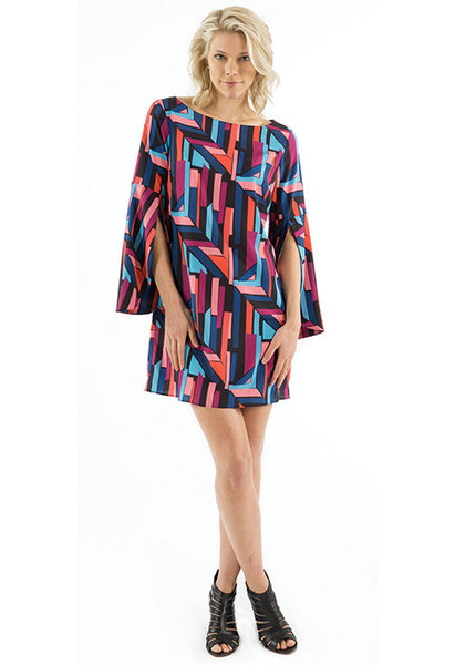 EMMA DRESS - HOUSES PRINT