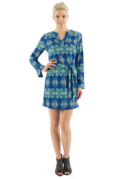 KATIE DRESS - CRISSCROSS PRINT