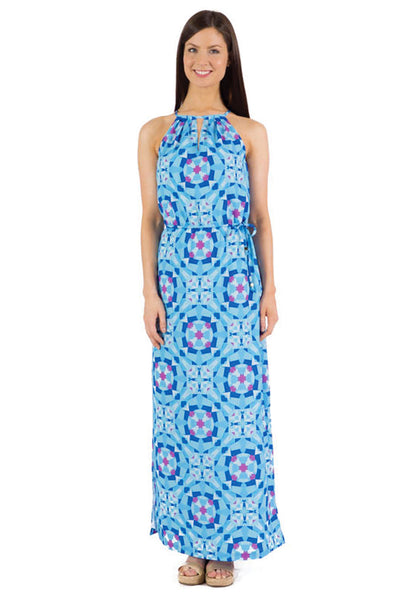 ROSE MAXI DRESS - MOON PRINT