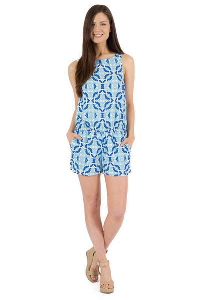 THERESA ROMPER - LIGHTNING PRINT