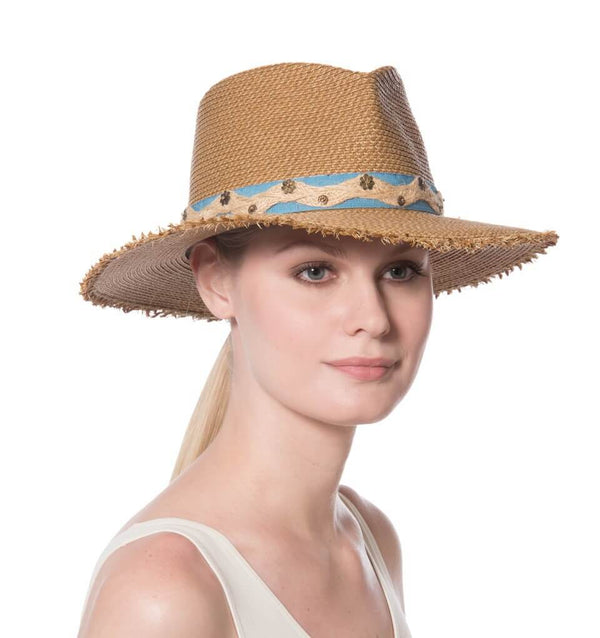 Kadija Straw Fedora Hat 50% OFF