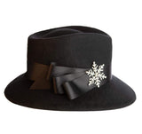 Eric Javits Women Hats Snow Flake Fedora Felt Hat