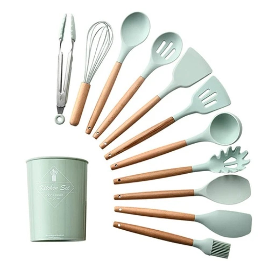 Silicone Kitchen Cooking Utensils Set